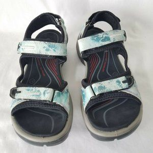 Ecco Yucatan Offroad Sandals Leather Hiking Sport